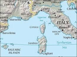 Corsica map