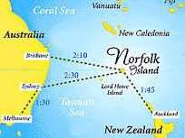 Norfolk island map