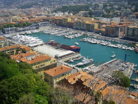 View over Port in Nice
